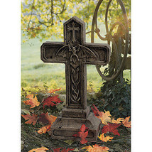 Tales From the Crypts Vampire Bat Macabre Masterpiece Carved Cross Sculp... - $103.90