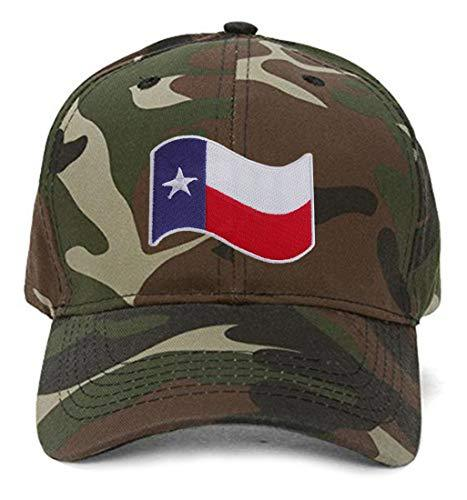 Texas Wavy Flag - Adjustable Unisex Camo Cap - Shipped from USA