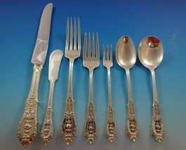 Rose Point by Wallace Sterling Silver Dinner Size Flatware Set 8 Service 60 Pcs - $3,950.00