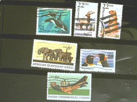 United States Set of 6 Stamps MINT -Wildlife - MNH Free Shipping # S3007 - $1.68