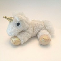 "Aurora World Mini White Gold Unicorn 8"" Plush Stuffed Animal Purple Eyes - $11.99"