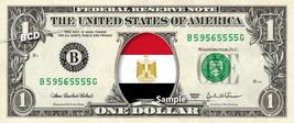 EGYPT FLAG on REAL Dollar Bill Cash Money Collectible Memorabilia Celebrity - $8.88