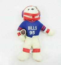 Vintage Buffalo Bills NFL Sportstuff Plush Bear 95 Helmet Team 2000 Play - $18.76