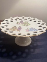 Lefton Pedestal Compote Plate Hand-Painted - $22.50