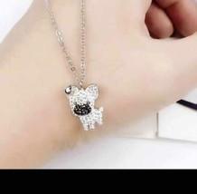 Swarovski  fashion cute fun puppy female necklace chain clavicle pendant... - $36.32