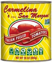 Carmelina San Marzano Italian Whole Peeled Tomatoes in Puree, 28 ounce P... - $23.37