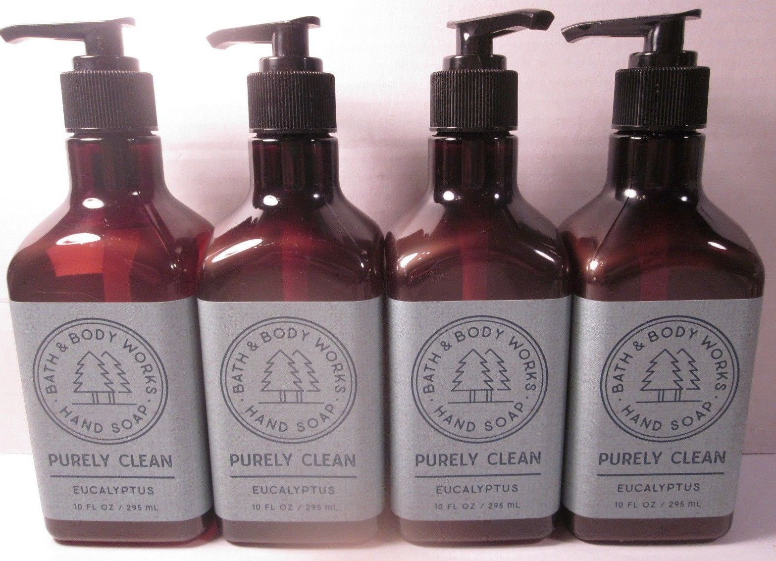 4 Bath & Body Works Purely Clean Hand Soap 10 oz Eucalyptus