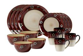 "Pfaltzgraff ""Flora"" Red Dinnerware Set 16 Piece, Service for 4 FLORAL MULTI NEW - $249.50"