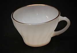 """Old Vintage Suburbia by Anchor Hocking 2-1/2"""" Milk White Flat Cup USA MCM - $8.90"""