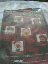 Janlynn Suzy's Zoo Cross Stitch Christmas Ornament Kit #38-51 1989 NO FLOSS - $2.93