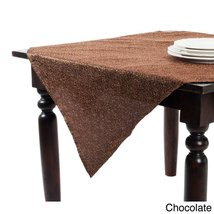 """Fennco Styles Chandler Satin and Net Tablecloth, 54""""x54"""" Square (Chocolate) - €21,19 EUR"""
