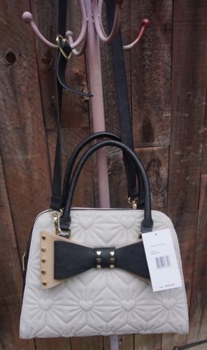 a4364f575dbf Betsey Johnson Bisque Studded BOW Dome and 50 similar items