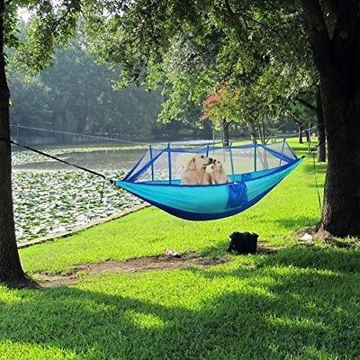 Hammock With Mosquito Net FYHAP Lightweight Nylon Portable Camping Hammock,Best