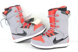 New Nike Vapen SB Mens Size 8.5 Winter Snowboarding Snowboard Boots Red Gray - $208.22