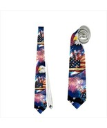 necktie american patrioic independence day 4 july united states bald eagle - $22.00