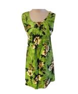 Lauhala of Hawaii Green Hawaiian Print Dress RL-10 - $48.51