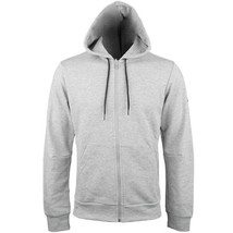 adidas Must Haves Plain Full Zip Hoodie Training Long Sleeve Logo Grey DX7658 - $68.99