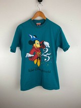 Vintage Disney Mickey Inc Mens Shirt M Medium Blue 25th Anniversary - $24.74