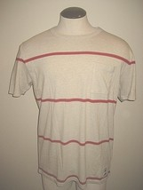 Vans Mens Joel Tudor Pescadero Striped 1 Pocket SS shirt Red Stripes Free Ship  - $19.99