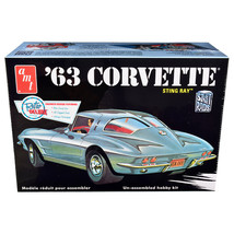 Skill 2 Model Kit 1963 Chevrolet Corvette Stingray 1/25 Scale Model by A... - $40.45