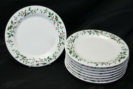 "Royal Seasons Holly Dinner Plates 10.25"" Lot of 8 - $45.07"