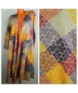 New LULAROE Sarah DUSTER CARDIGAN Sweater SMALL Patchwork Damask UNICORN... - $38.30