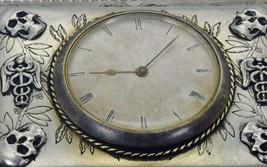Napoleon I French silver&crystal Memento Mori Skull jewellery box/Lepine... - $10,000.00