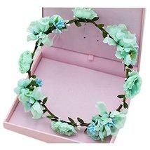 Holiday Dress Headdress Flower Garlands Of Cane Simulation(Skyblue)