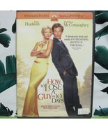 DVD How to Lose a Guy in 10 Days Kate Hudson Matthew McConaughey Widescreen - $1.99