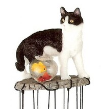 Cat Windchime Garden Decoration Collectible Fantasy Figurine Model - $22.72