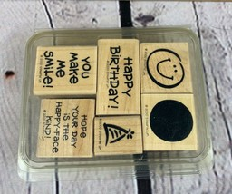 2000 STAMPIN UP! Happy Birthday collection Rubber Stamp   - $12.99