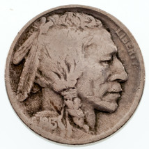 1913-S 5C Buffalo Nickel in VG Condition, Natural Color, 4-Digit Date - $49.50