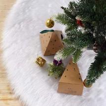 iMucci 36 inch Christmas Tree Skirt Snowy White Plush Velvet - Holiday P... - $17.26