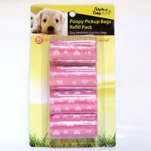 Alpha Dog Series Poopy Pick up Bags Refill Pack 80BAGS - PINK (Pack of 12) - $36.00