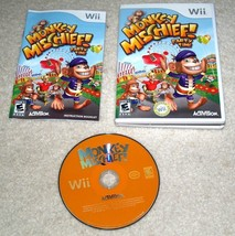 complete Monkey Mischief Party Time (Nintendo Wii, 2008) Video Game 20 g... - $8.90