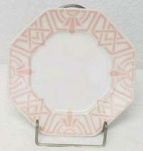 Fitz And Floyd The Ritz Peach Tea Plates Saucer Art Deco Discontinued Se... - $46.25