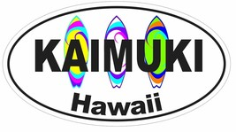 Kaimuki Hawaii Oval Bumper Sticker or Helmet Sticker D3007 Surf Surfing Surfer - $1.39+