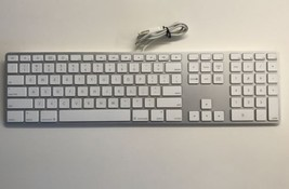 Apple A1243 Ultra Thin Aluminum USB Wired Numeric 10 Keyboard For Parts ... - $20.56