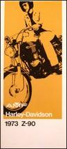 1973 Harley-Davidson ORIGINAL Z-90 Brochure NOS AMF Motorcycles - $14.12