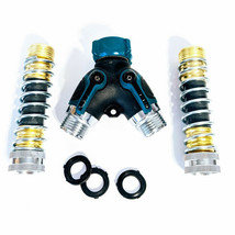 Techken 2 Way Garden Hose Connector Y Splitter, Solid Heavy Duty Brass M... - $15.47
