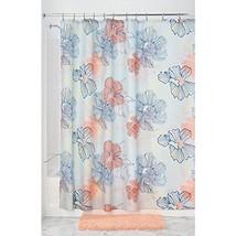 InterDesign Elsa Fabric Shower Curtain, Coral Multi - $30.84