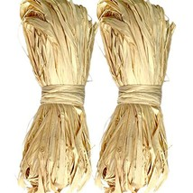 KINGLAKE Natural Raffia for Florist Bouquets Decoration Crafts Ribbon, T... - $10.05