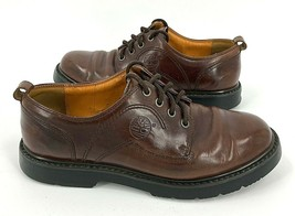 Timberland Leather Waterproof Oxford Shoes Mens Size: 9.5M Brown Lace Up... - $29.02