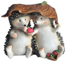 Top Collection Enchanted Story Fairy Garden Hedgehogs Sharing Outdoor St... - €16,32 EUR