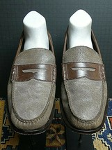 Men's Cole Haan Brown Waxed Suede Smooth Leather Classic Loafer Sz. 11M ... - $37.05