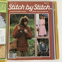 14 VTG 1982 Stitch By Stitch Magazine Back Issues 15-28 Binder Knit Sew ... - $11.83