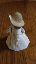 Giordano 1986 Handcraft Fine Bisque Porcelain Figurine Bessie H3805 Applied Rose image 2