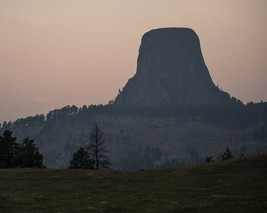 Devils Tower National Monument in Wyoming at sunset Photo Print - $7.05+