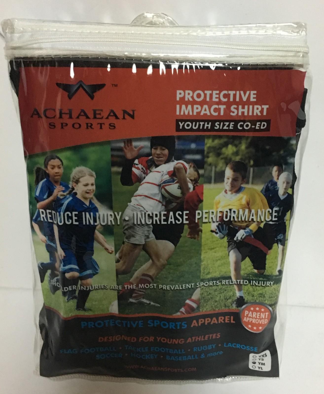 Achaean Sports Protective Impact Shirt Youth Sizes Boys & Girls Black image 2