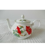 Duchess POPPIES Teapot pot server England 659 Fine Bone China 4 cup floral - $49.49